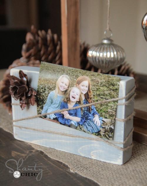 Wood Block Frame DIY