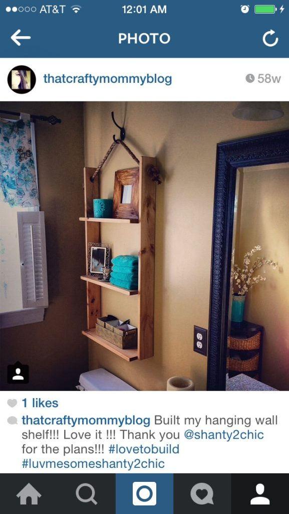 Hanging Shelf DIY