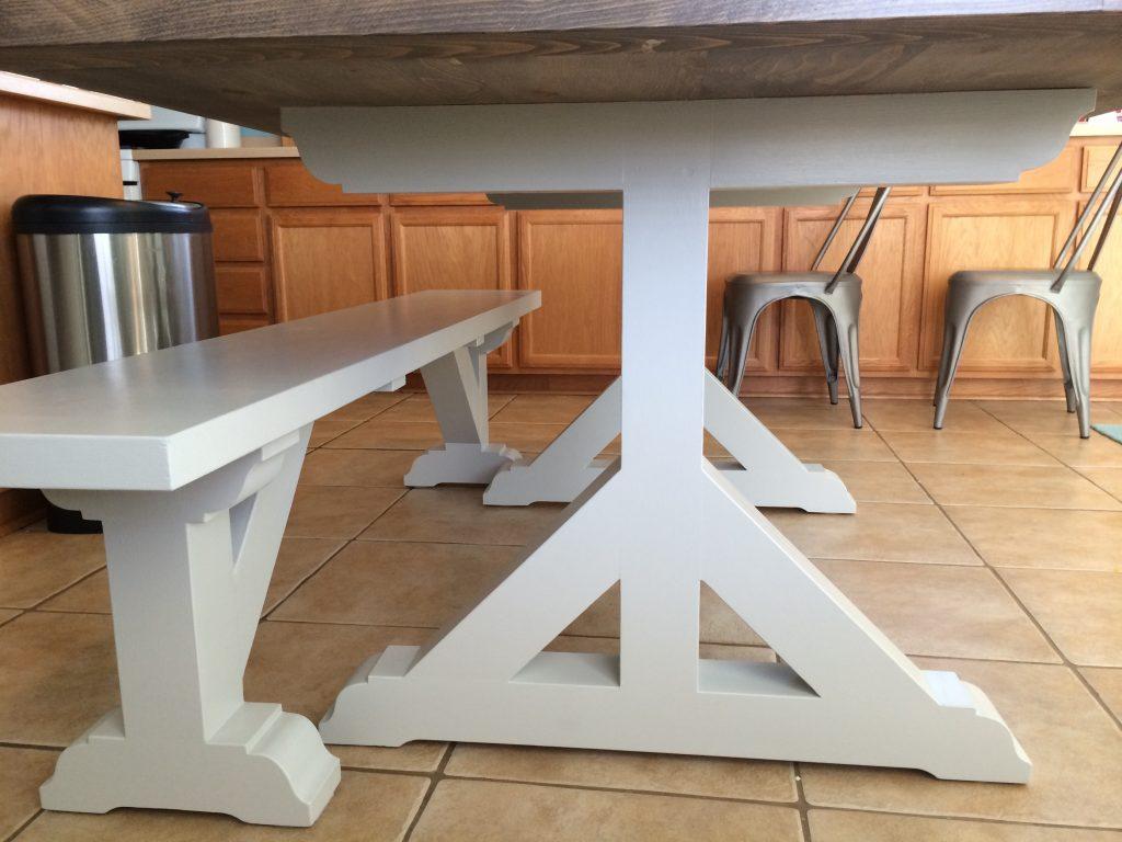 Farmhouse pedestal table original design Shanty 2 Chic