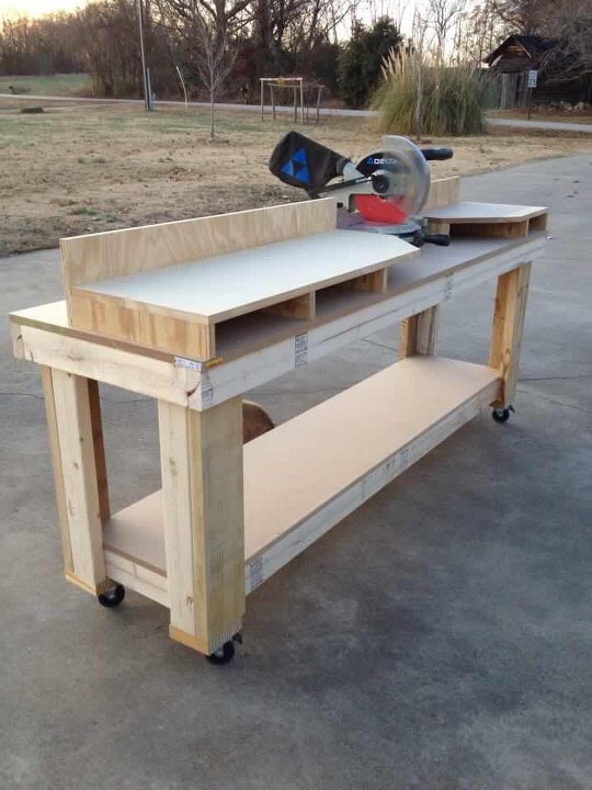 Miter Saw Workbench - Shanty 2 Chic
