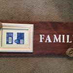 Antiqued Wooden Family Frame