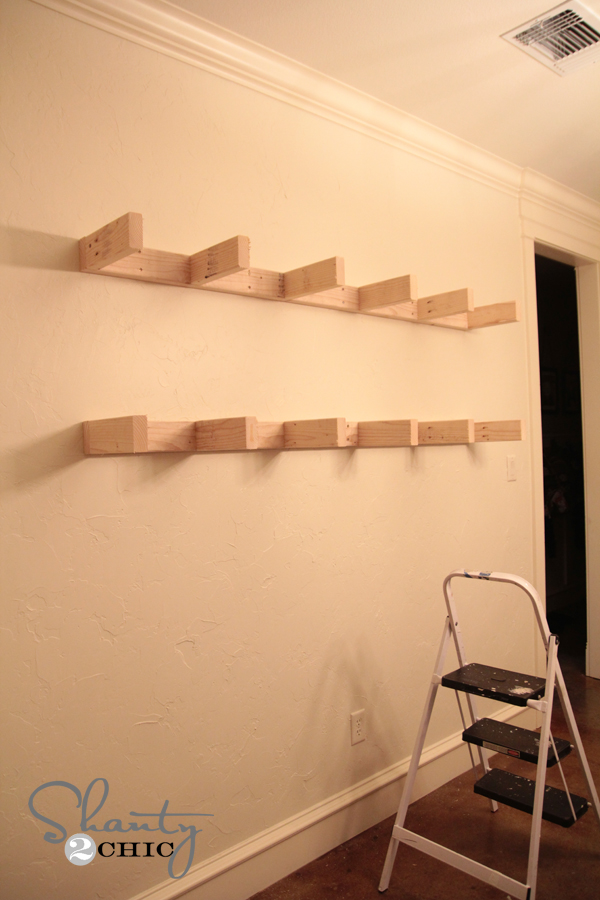 Building Floating Shelves For The Dining Room