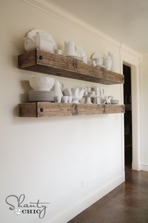 Diy Floating Shelf Plans For The Dining Room Shanty 2 Chic