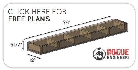 DIY Floating Shelves   Free Plans   Button