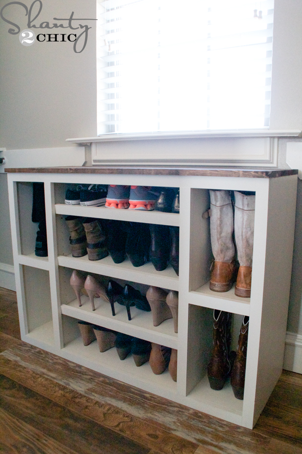 DIY Shoe Storage Cabinet - Shanty 2 Chic