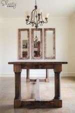 DIY Turned Leg Dining Table by Shanty2Chic