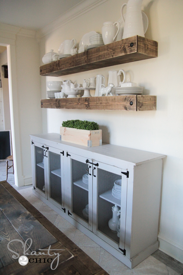 Free Woodworking Plans DIY Sideboard by Shanty2Chic