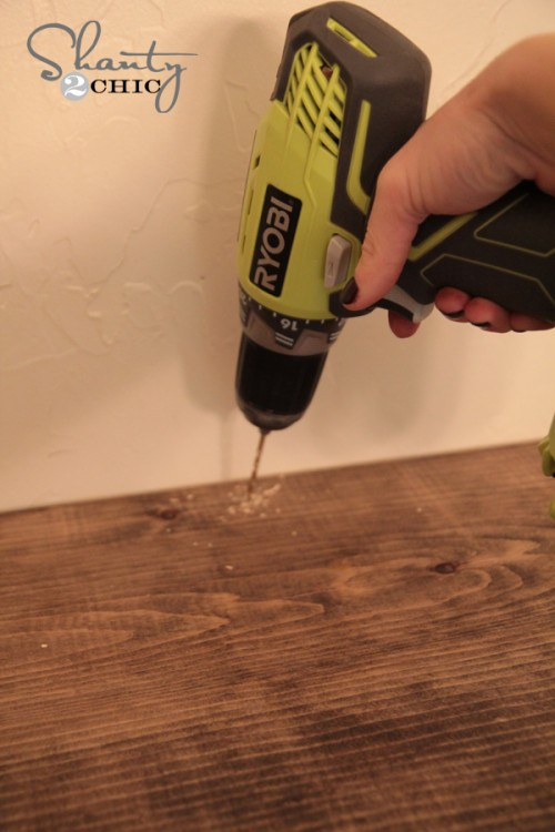 How to attach shelf to the wall