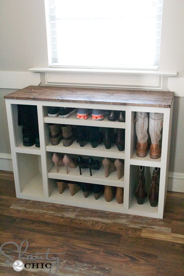 Shoe-Storage-Organization-for-closet & DIY Shoe Storage Cabinet - Shanty 2 Chic