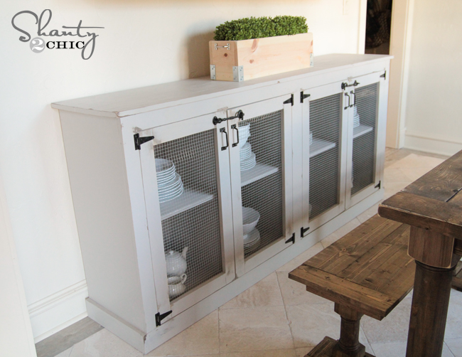 Plans To Build A Sideboard ~ Diy sideboard shanty chic