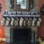 Nativity stocking holder