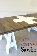 Swiss Inspired Sawhorse Table