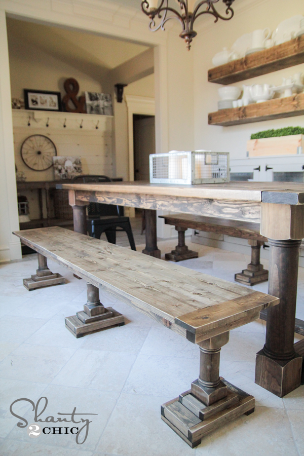 How To Build A Dining Bench Part - 15: DIY Dining Benches By Shanty2Chic