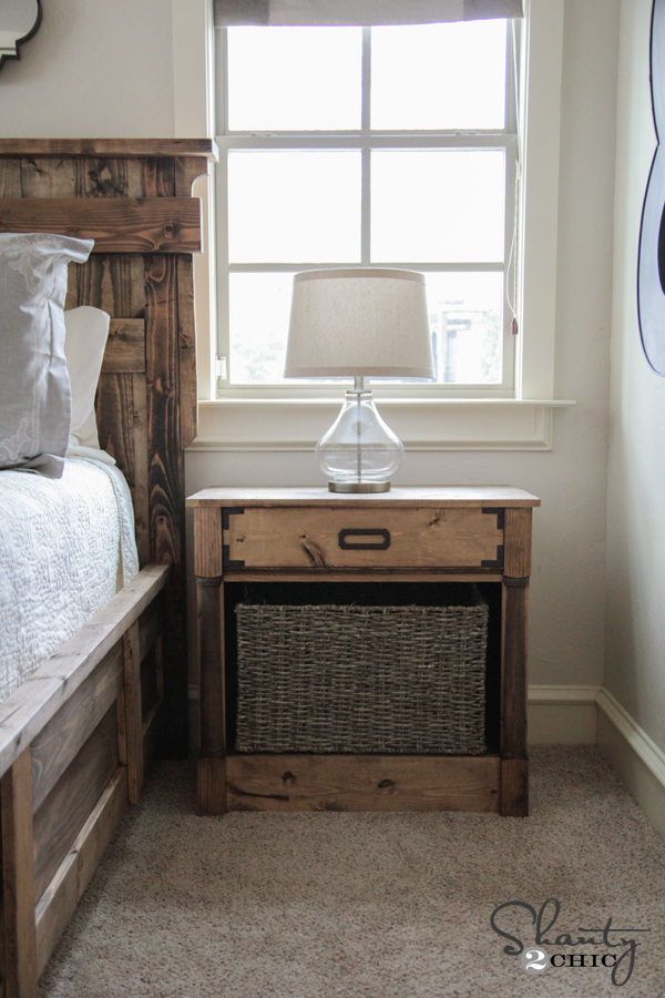 diy nightstands free woodworking plans - shanty 2 chic Diy Nightstand Plans