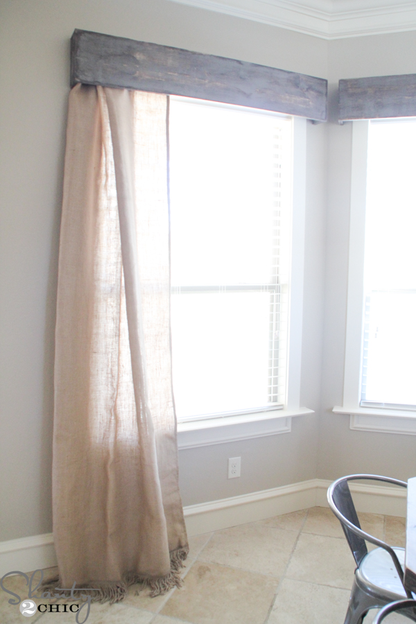 Homemade Valances For Windows : Diy wooden window cornice shanty chic