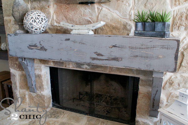 DIY-wooden-mantel