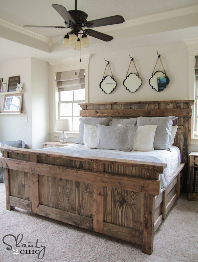 king size bed by shanty2chic free woodworking plans diy