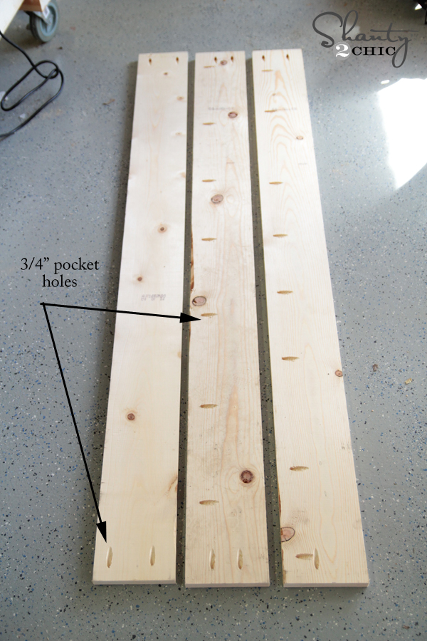 Pocket Holes for Plank Top