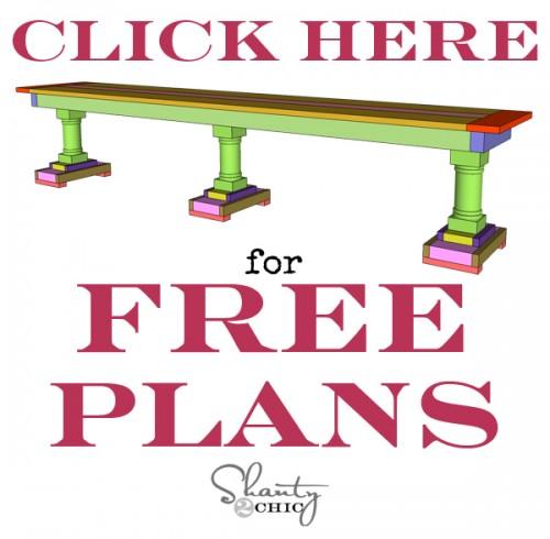 Print DIY Bench Free Plans