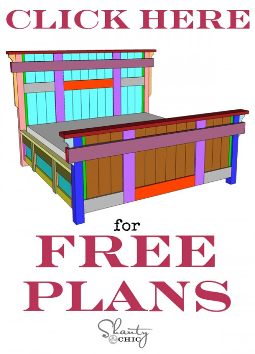 Diy King Size Bed Free Plans Shanty 2 Chic