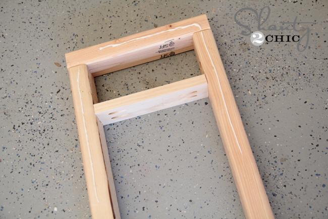 wood glue on apron