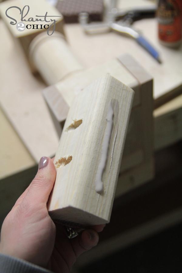 wood glue on leg support