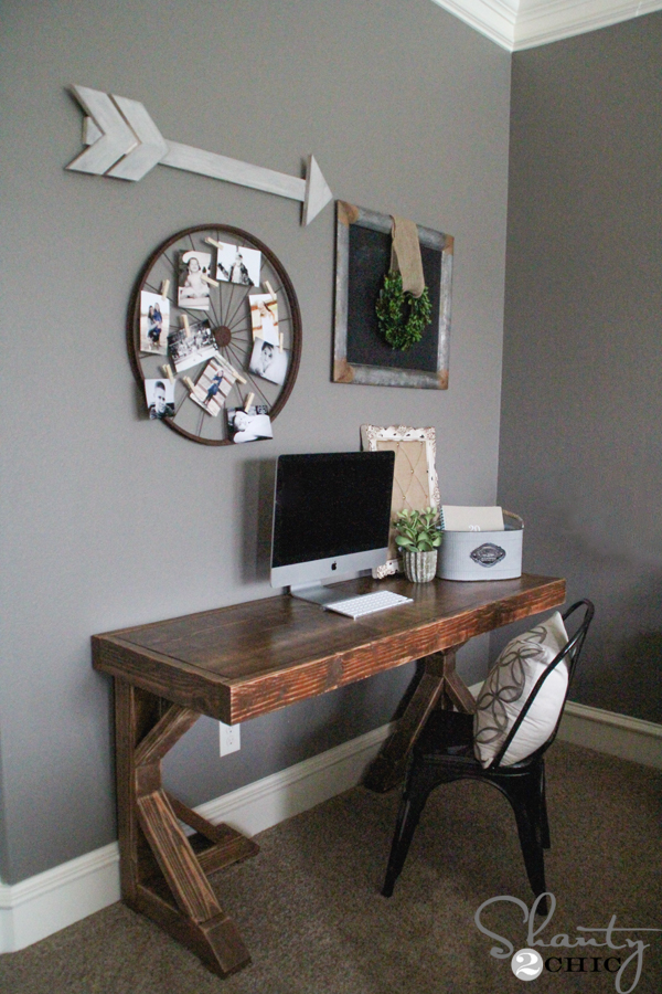 Diy desk for 70 shanty 2 chic - Desk options for small spaces decoration ...