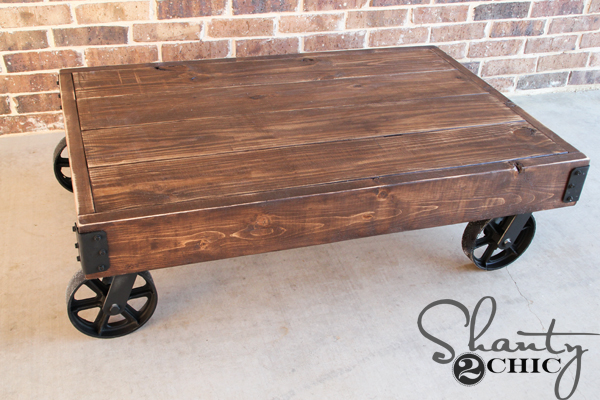 DIY Factory Cart Coffee Table Shanty 2 Chic