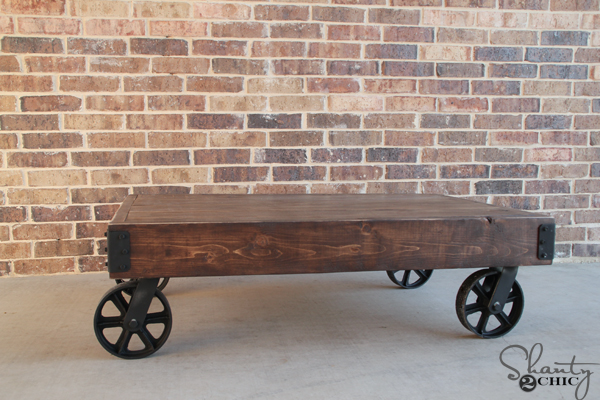 Superb DIY Factory Cart Coffee Table