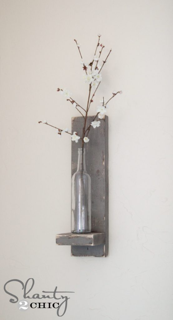 DIY Wine Bottle Wall Sconce by Shanty2Chic