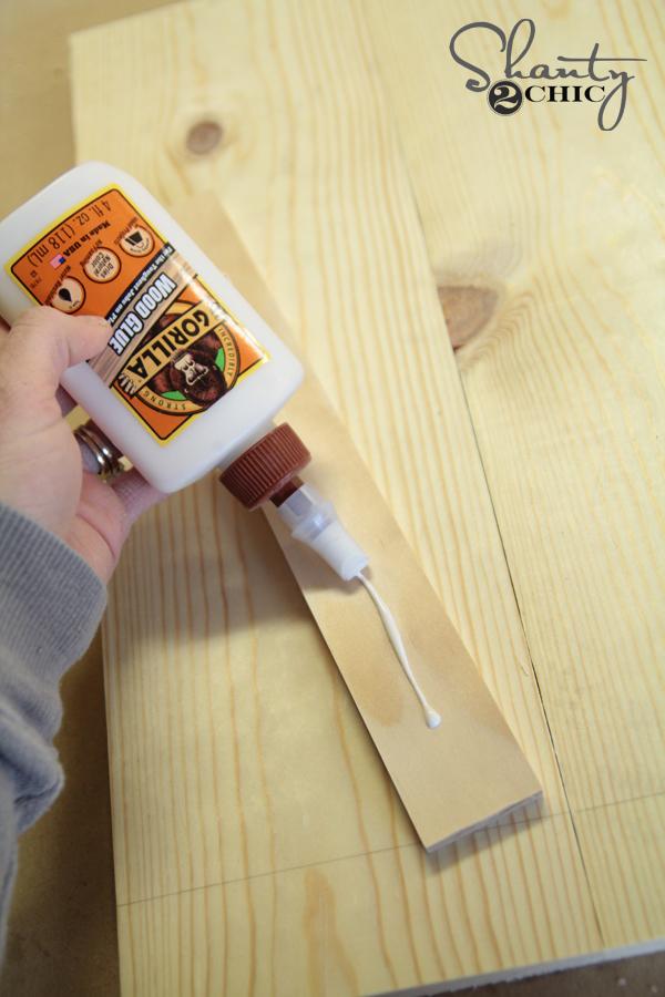 Glue front of clip frame