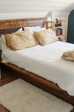 Platform bed and headboard
