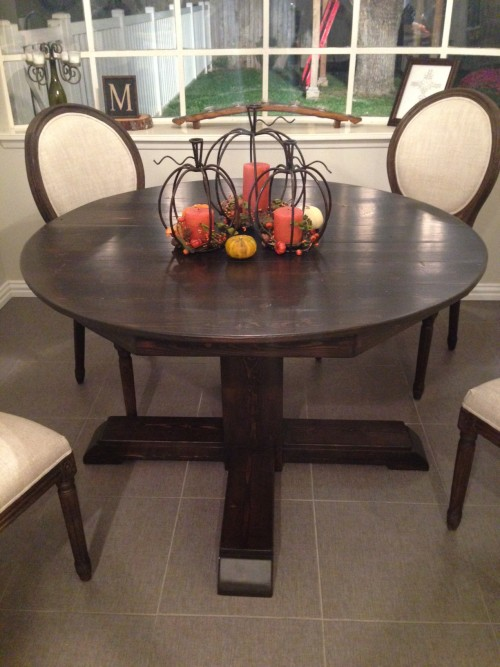 Round Kitchen Table round kitchen table - shanty 2 chic