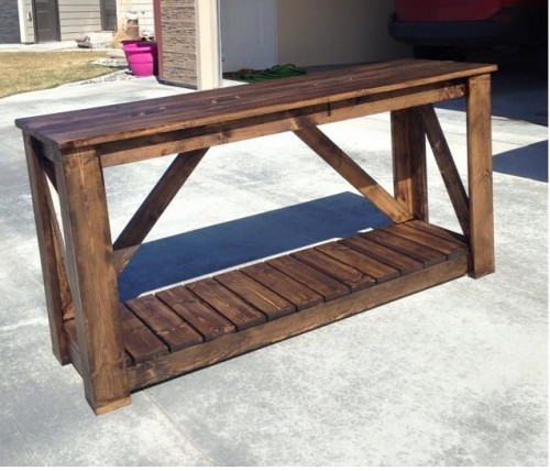 Diy console table shanty 2 chic for Shanty 2 chic porch swing