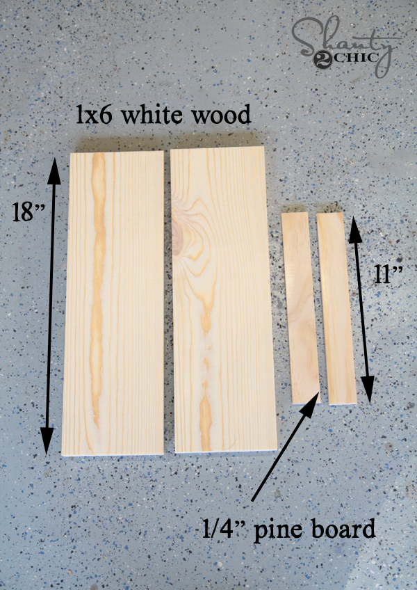 Wood cuts for DIY Frames