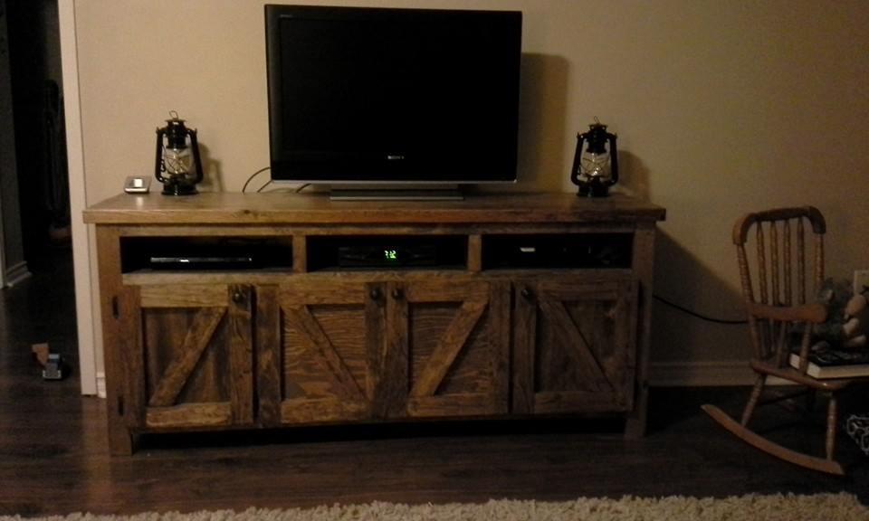 chic media console cottage style center foter