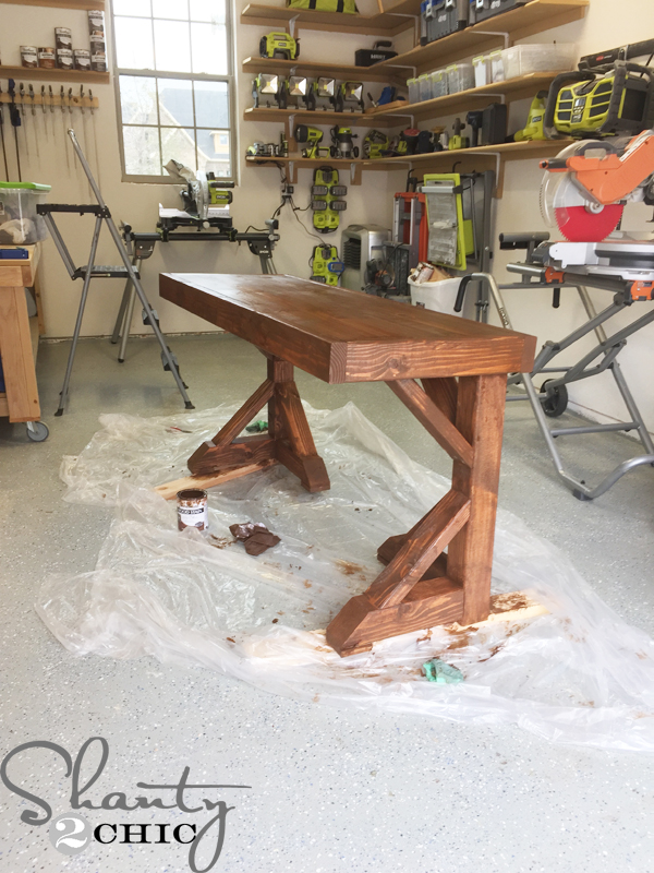 desk-stained