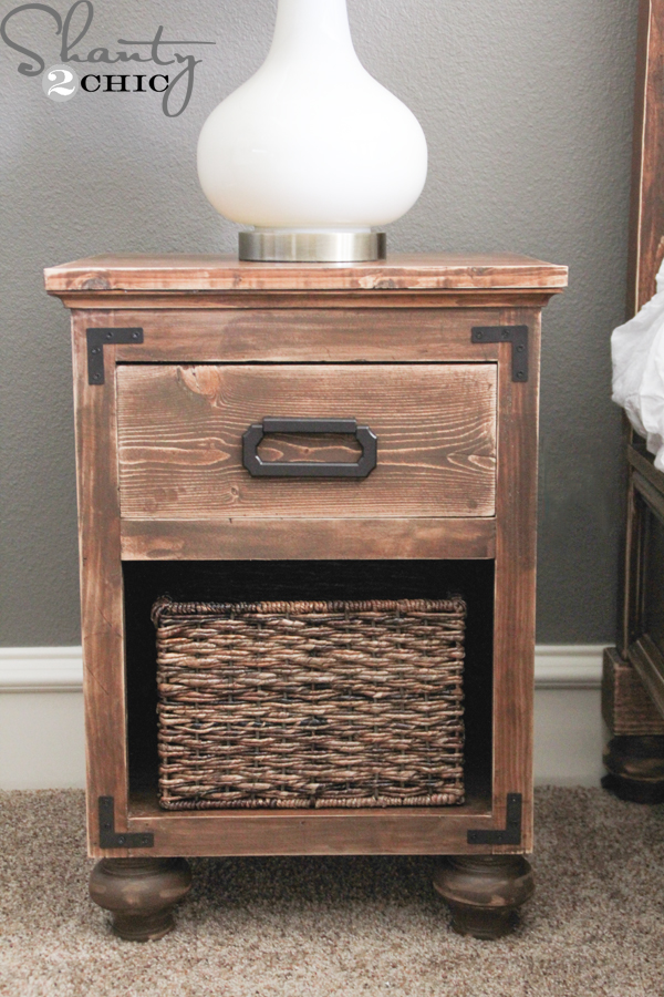 DIY Nightstand with Bun Feet - Shanty 2 Chic