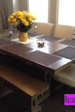 DIY Farmhouse Dining Room Table for $200 CAD