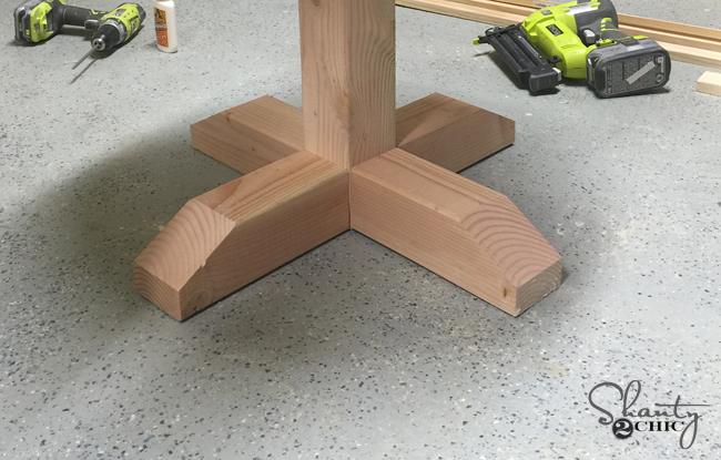 Base of side table using 4x4