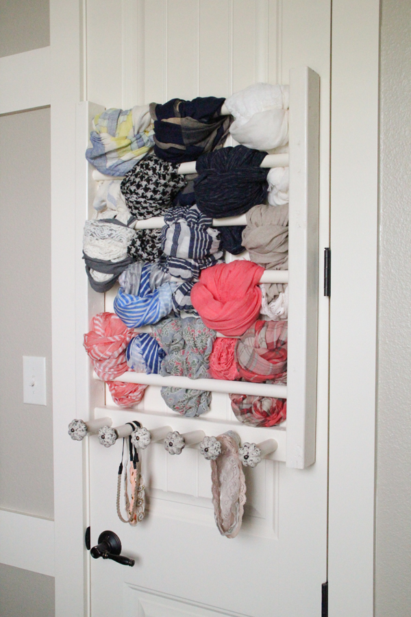 Diy Scarf And Accessory Rack Shanty 2 Chic