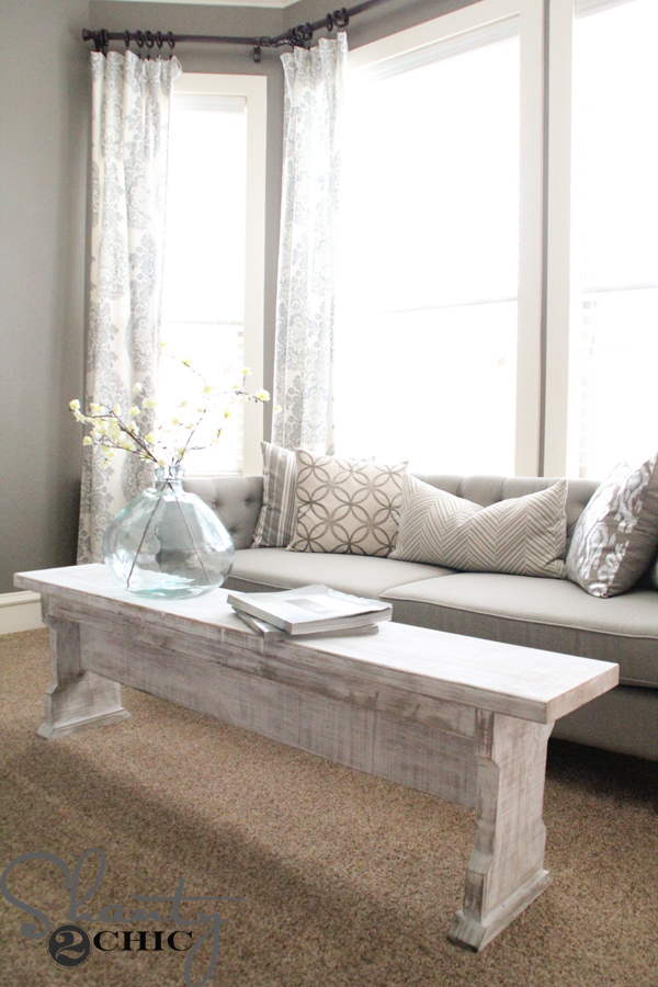DIY Coffee Table or Bench Shanty 2 Chic
