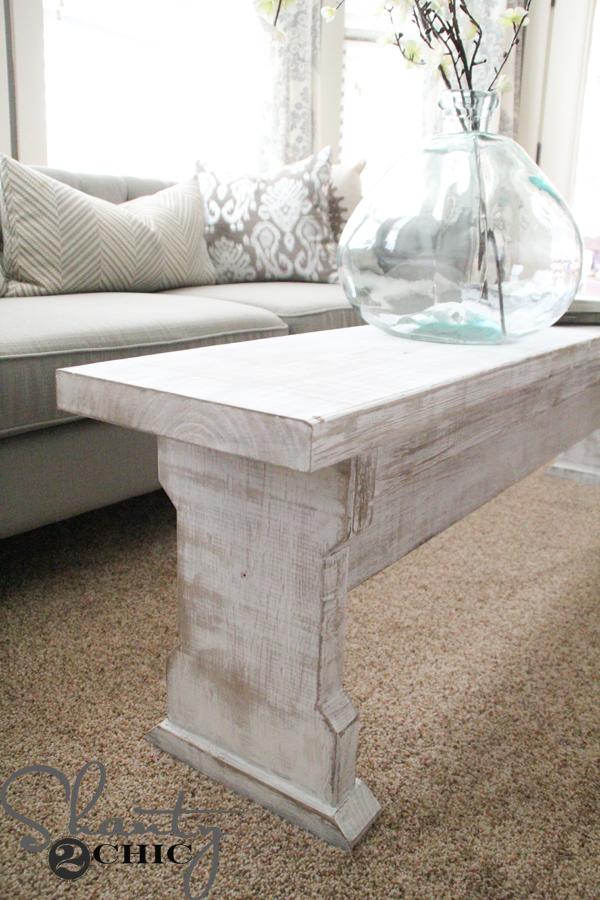 diy coffee table or bench - shanty 2 chic