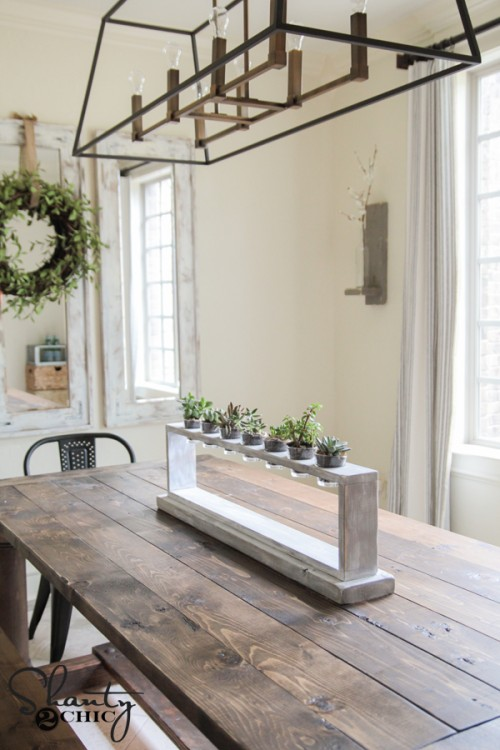 DIY Dining Room Centerpiece by Shanty2Chic