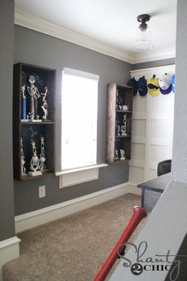 Diy Trophy Case For A Teen Boy Room Shanty 2 Chic