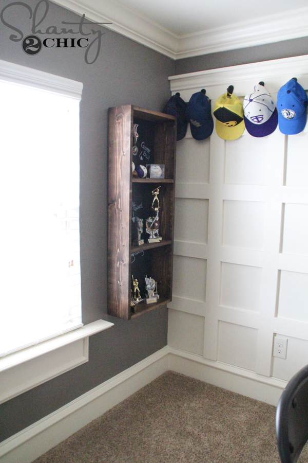 Diy Trophy Case For A Teen Boy Room Shanty 2 Chic