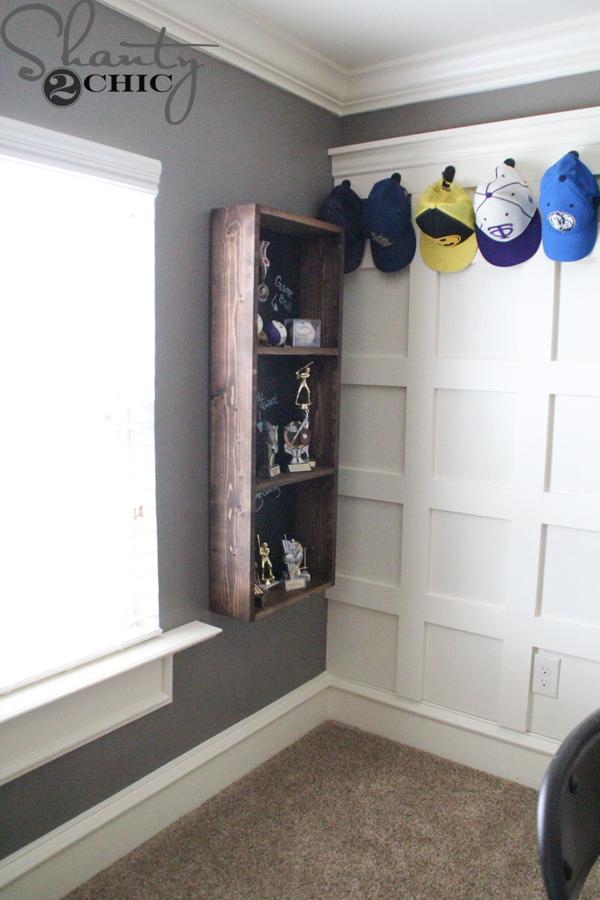 DIY Trophy Storage Shelf