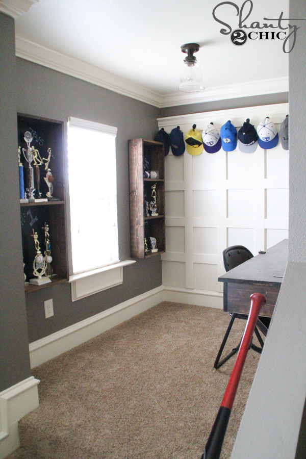DIY Trophy Storage For A Teen Boy