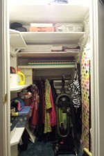 Under the stairs closet makeover