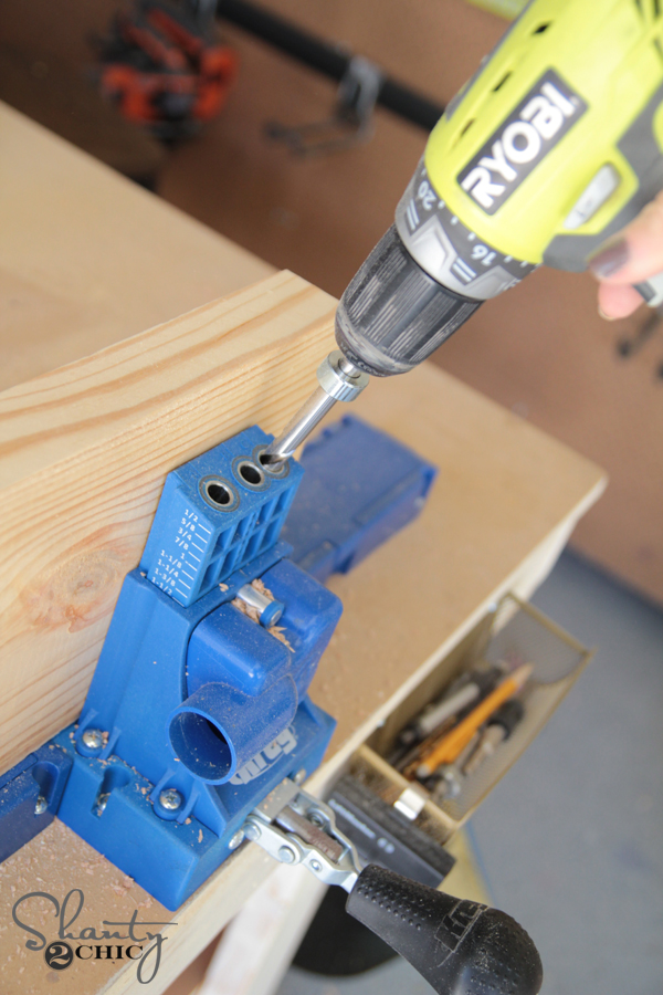 Pocket Holes using Kreg Jig